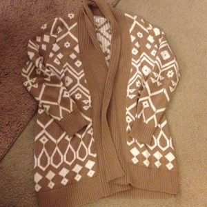 Old navy size large Aztec brown and white sweater