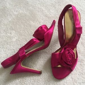 Enzo Angiolini Shoes - Hot pink rosette heels