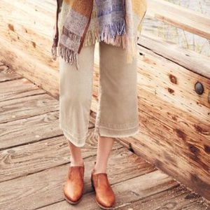 Anthropologie Pants - Anthropologie Cropped Wide-Leg Chinos