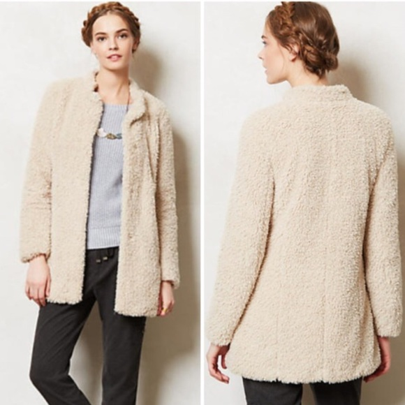 1f26b3afbda Anthropologie Jackets & Coats | Lumi Faux Sherpa Coat By Elevenses ...