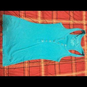 Lilu Tops - Blue tank top