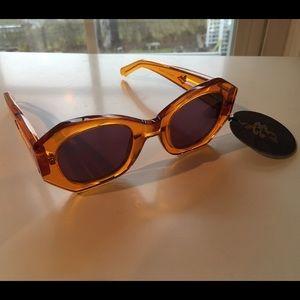 Karen Walker Accessories - Karen walker geo sunglasses in orange NWT