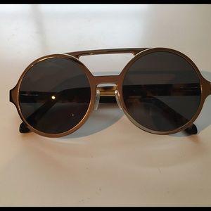 Karen Walker Accessories - Karen walker gold circular aviator sunglasses