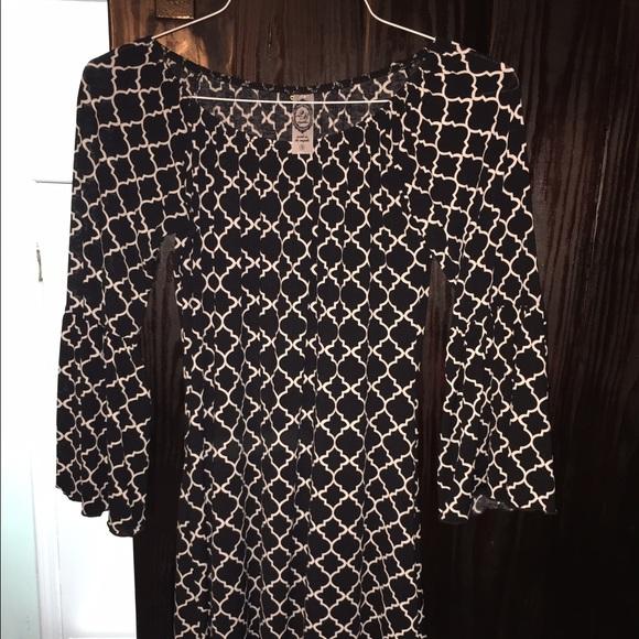 83% off 2B Together Dresses & Skirts - Black and white comfy dress ...