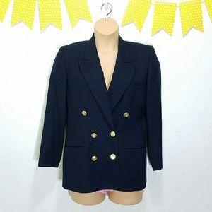Talbots Jackets & Blazers - Petite Classic Talbots Military Blazer Navy Blue