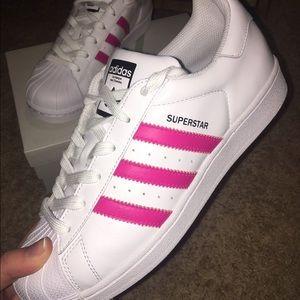 Adidas Shoes - CUSTOM PINK ADIDAS SUPERSTARS