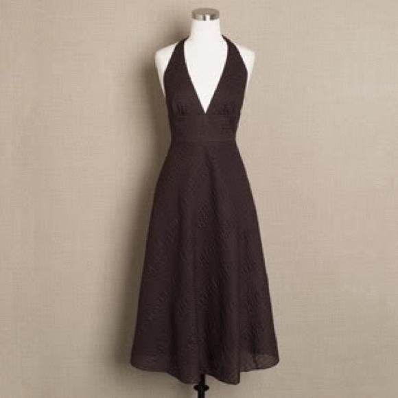 J. Crew Seersucker Halter Dress