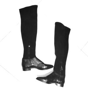 Brand New MaxMara Black Over-the-Knee Boots