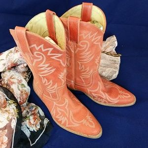 Roper Shoes - Roper peach cowgirl boots made in Brazil 7M