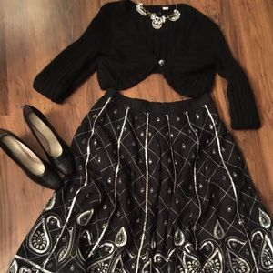 WDNY Dresses & Skirts - ✨WDNY Vintage Sequined Flared Midi..Gorge🌸🌷✨