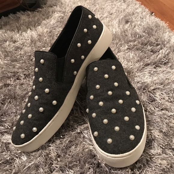 Keaton Embellished Flannel Slip-On Sneaker