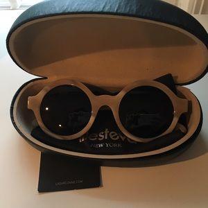 Illesteva Accessories - RARE Illesteva beige circular round glasses