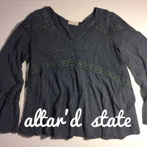 Altar'd State Tops - altar'd state flowy boho top with lace details L