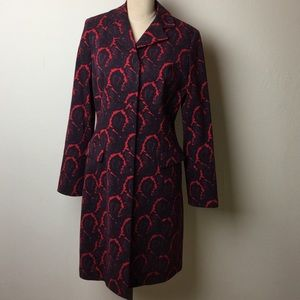 Etcetera Jackets & Blazers - Gorgeous paisley print wool long length coat