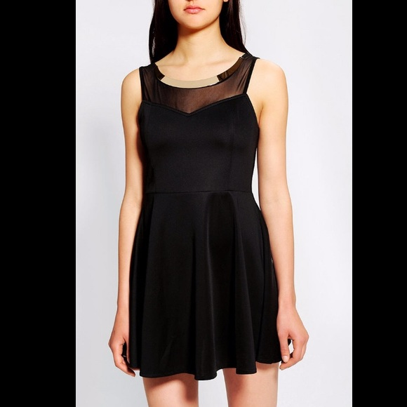 Urban Outfitters Dresses Black Skater Dress With Gold Collar
