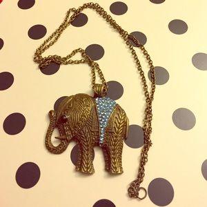 Jewelry - Bronze Elephant Necklace!