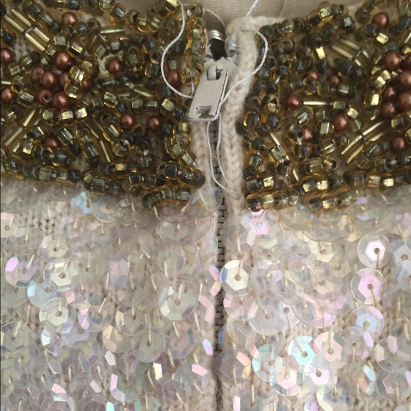 Vintage Dresses - Vintage FULLY beaded/sequined 1960s Shift dress!✨