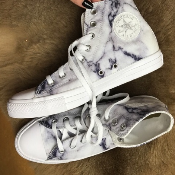 7b8b72cc42b Converse Shoes   Nwt Marble High Top   Poshmark