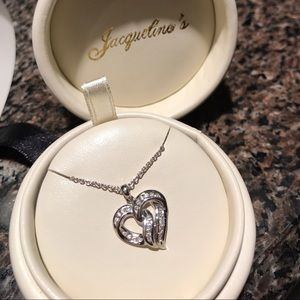 Jewelry - NWOT Diamond Heart Necklace AUTHENTIC