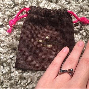 NWT Kate Spade Silver Bow Ring