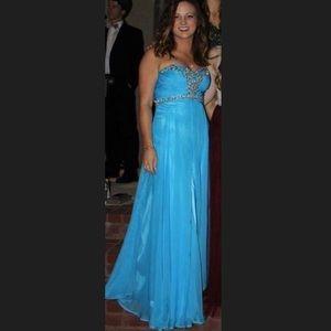 Alyce Paris Dresses & Skirts - Alyce Paris blue strapless prom/formal dress