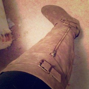 JustFab Shoes - Knee high wedged boots