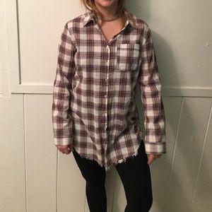 Long flannel shirt!
