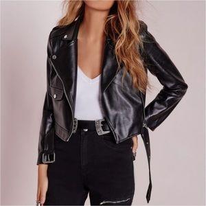 Missguided Jackets & Blazers - Missguided Zazula Faux Leather Moto Jacket