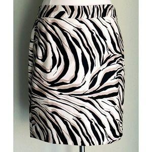 ❤HP❤NWT Ann Taylor Loft Zebra Animal Print Skirt