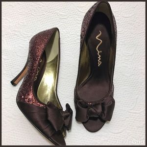 Nina Shoes - 🌸Nina Glitter Peep Toe Heels