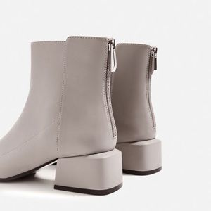 bd92e79803 Zara Shoes   Grey Ankle Boot With Square Heel   Poshmark