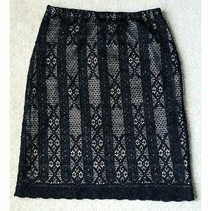 Wet Seal Dresses & Skirts - Black Illusion Lace Skirt