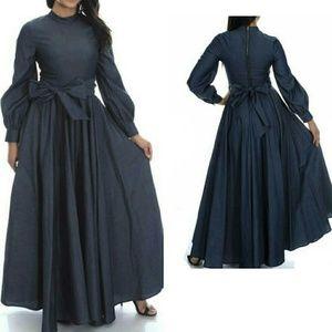 Relaxed Elegance Denim Maxi Dress