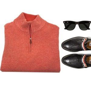 Gran Sasso Other - Mens $395 GRAN SASSO wool cashmere zip mock neck