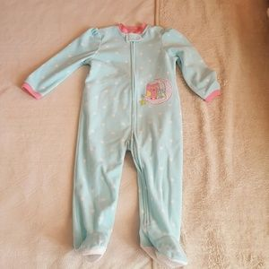 Little Me Other - Light blue, pink and black baby sleeper