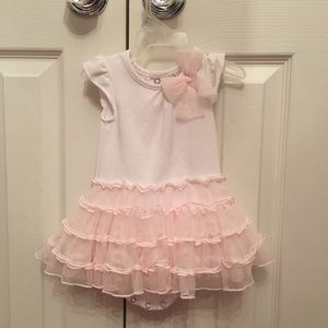 Fancy White & pink adorable outfit 3 month girl