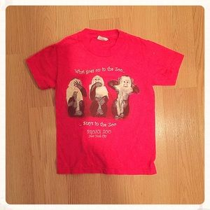 Red Bronx Zoo  T-shirt, XS