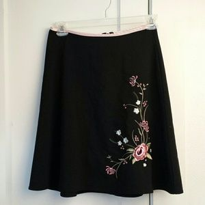 (3/$23) Black Skirt with beautiful embroidery