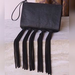 BCBGeneration black clutch with fringe