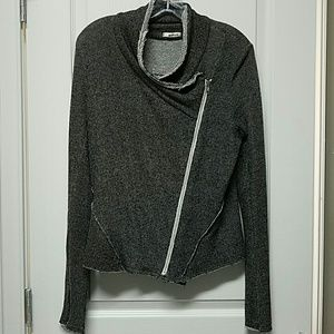 LAmade Sweaters - LAmade Asymmtrical zip knit sweater jacket