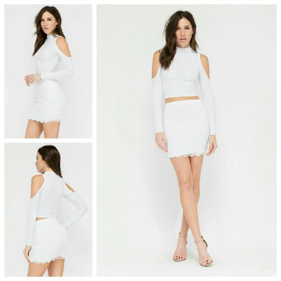 Dresses & Skirts - 2X HP Take Me Away Crochet Miniskirt