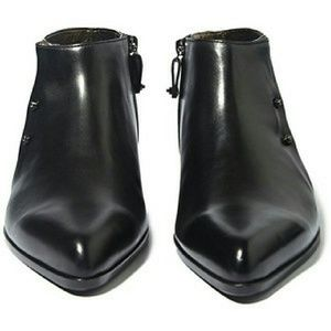 BRAND NEW IN BOX Lanvin Black Leather ankle boots