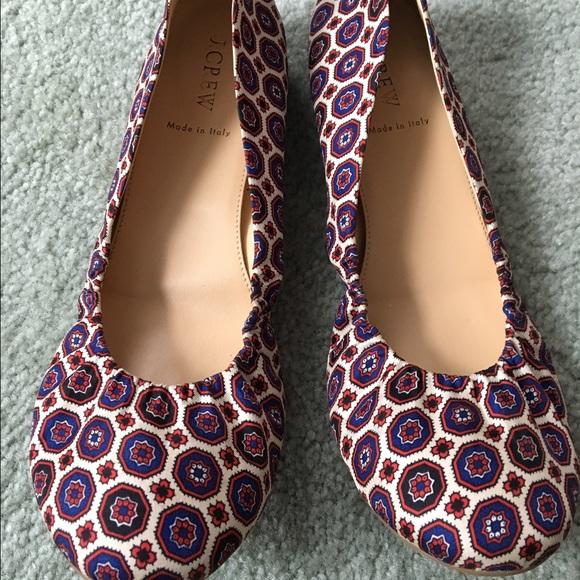 561017fdaf1f J. Crew Shoes - JCREW Satin Foulard Ballet Flats (9.5)