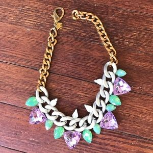 Lily Dawson Jewelry - Lily Dawson Purple & Green Edgy Chain Necklace