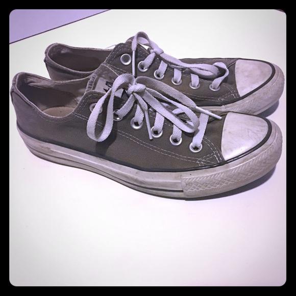1ea9629283de Converse Shoes - Women s Gray Low Rise Converse All Stars size 6.5