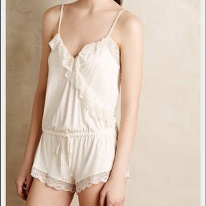 Anthropologie Ruffle Romper by Eberjey
