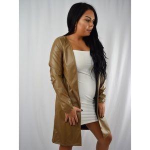Ashlee Natalia Jackets & Blazers - SALE 🔥 Lana Faux Coat - Tan