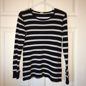 Striped thermal long-sleeve shirt