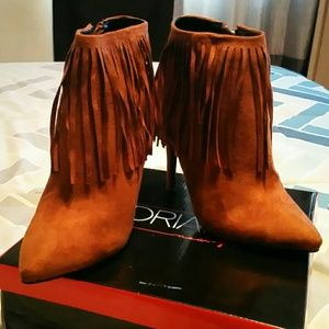 Adriana new york Shoes - Beautiful ankle brown Fringe heel boots