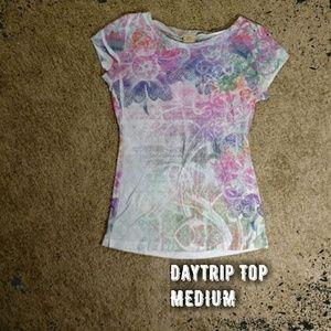 Daytrip Tops - { Daytrip } Buckle Burnout Top
